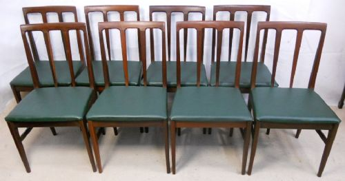 Set of Eight Teak 1960's Dining Chairs by Younger